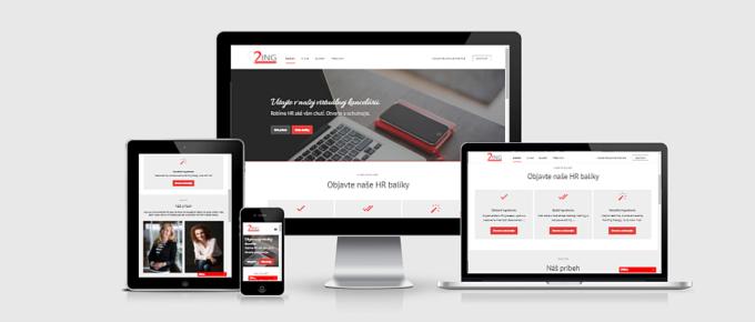 Nová web stránka pre personálnu agentúru 2ING